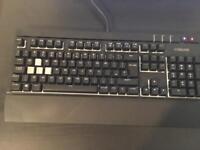 Corsair strafe RGB cherry MX silent mechanical keyboard