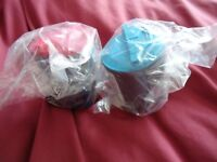 2 Samsung CLP300 Ink Cartridges. One Blue. One Magenta.