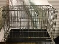 SOLD 08/03/21 - Wire Cage Carrier for Cats, Small Dogs or Rabbits