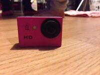 Pink go pro camera