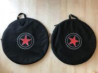 2 bike wheel bags - new