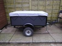 "4`x 6"" x 3`x 18"" box trailer ideal for camping"