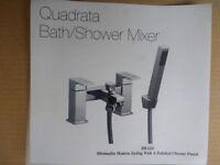 Moretti Quadrata Bath mixer tap with shower attachment