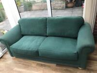 3 seater sofa X2 one is bed settee solid wood good quality