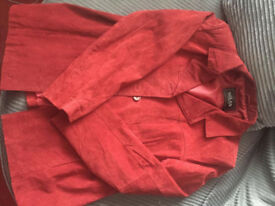 Milan Leather suede jacket, size 18