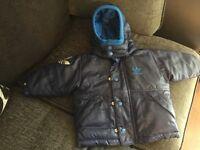 Baby Boys Blue Adidas Coat Size: Age 3-6months