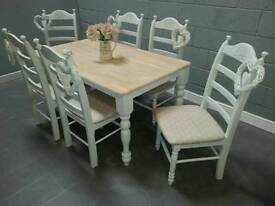 Stunning 5ft Shabby Chic table & chairs
