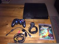 Sony PlayStation 3 160GB Slim Console (CECH 3003a) - One controller - cables - Rayman Legends