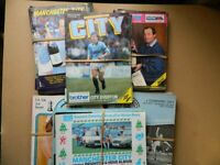 VINTAGE MANCHESTER CITY FOOTBALL PROGRAMMES.. LOOK !!