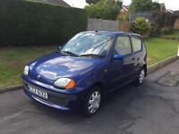 2000 Fiat Seicento Mia 3 door hatch back