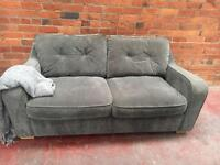 Harvey's Ex Display Grey 2 Seater Sofa - Can Deliver