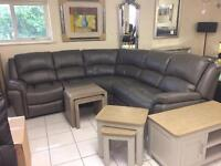 Leather corner suites reduced to clear