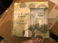NEW - Ted Baker London Dover High Performance In-Ear Headphones - Mint Gold