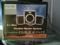 2.1 Mini wooden woofer system