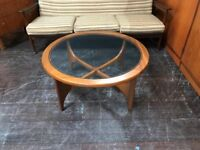 Stateroom Circular Coffee Table by Stonehill. Retro Vintage Mid Century