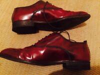 Poste Mistress RRP £95 ITALIAN Leather Women's Burgundy Marble Shoes UK 6.5 (39)