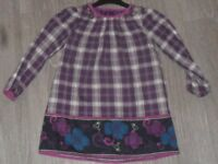 purple checked 6yrs dress and lined