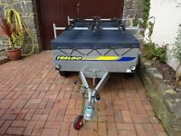 Trelgo 5' tipping trailer for camping or general purpose