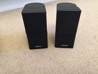 Bose Jewel twin cube speakers, includes leads, very small compact speakers. New style.