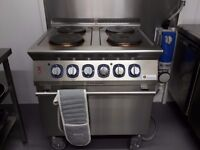 Electrolux electric oven and four ring electric hob.
