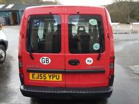 Vauxhall Combo Crew Van. 98k miles. 12mnths MOT. 5 seats. In Oban but will travel to Central Belt