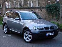 EXCELLENT 4x4!! 2004 BMW X3 2.5 i SE 5dr, 6 SPEED, FULL LEATHER, LONG MOT, PARKING SENSORS, WARRANTY
