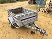 """Larger franc tipping trailer (both ends drop) 13"""" wheels"""