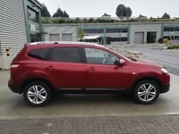 2010 NISSAN QASHQAI+2 RED ACCENTA 1.5 DCI DIESEL NEW MOT FSH SEVEN 7 SEATS PANORAMIC ROOF