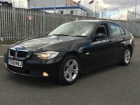 2008 BMW 320D SE * SALOON * HEATED BLK LEATHER * SAT NAV * SENSORS * JUST SERVICED * PX * DELIVERY *