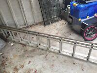 Abru Aluminium ladders extending. 3.94m