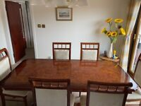 Solid wood dining table and 8 chairs extendable