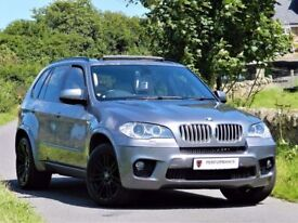★PAN ROOF★ (2010) BMW X5 4.0D M SPORT AUTO ★ CAMERA- SAT NAV - LEATHER -ALLOYS- ★7 SEATER ★
