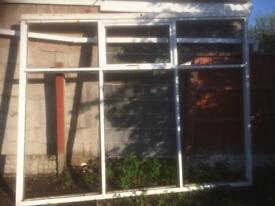 Various double glassed door and window frames and glass