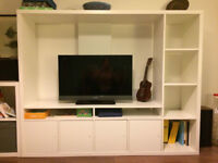IKEA LAPPLAND TV White Storage Cabinet Unit - Excellent condition - RRP £125 - Only 1 year old