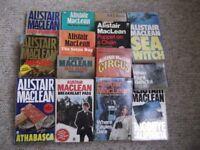 14 Alistair MacLean novels including Bear Island, The Satan Bug & When 8 Bells Toll
