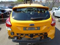 2014 FORD FOCUS MK3 ST BOOTLID TAILGATE TANGERINE SCREAM YELLOW COMPLETE #6569
