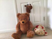 Large cuddly bear, A soft cuddly dog & a galloping horse