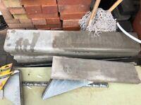 Light grey concrete border edging