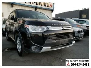 2015 Mitsubishi Outlander ES 4WD; Certified Pre-owned! No accide