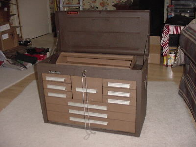 Kennedy 10 Drawer Steel Tool Chest 26-18 X12-18 X 18-78 Brown Used Usa