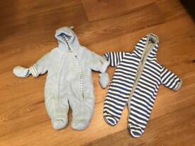 Boys pramsuits 0-3 months price for both