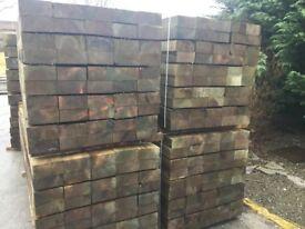 X50 Wooden Railway sleepers 190x90x2400mm Pressure Treated green
