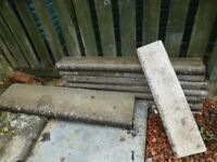14 Concrete edgings. Various lengths.