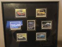 Sporting Ford framed collector card - Escort, Capri, Cortina GT40 etc