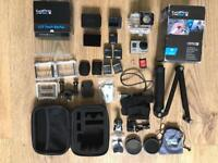 GoPro Hero 3 Black With LCD Touch BacPac And extras