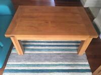 Oak solid coffee table