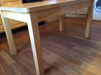 SOLID WOODEN KITCHEN TABLE, SEATS 6