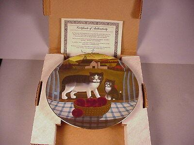 Autumn Fall Cat Collector Plate MIB Kitten 1981 Eyes of the Season w/ COA