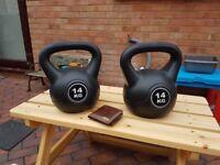 2 x 14kg kettle bells