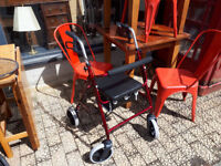 mobility aid 4 wheeled walker seat folding walker seat with brakes in yeovil